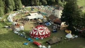 Vue aérienne du Festival Hors Tribu